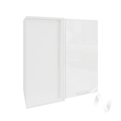 """Кухня """"Валерия-М"""": Шкаф верхний угловой 690, ШВУ 690 (белый глянец/корпус белый)"""