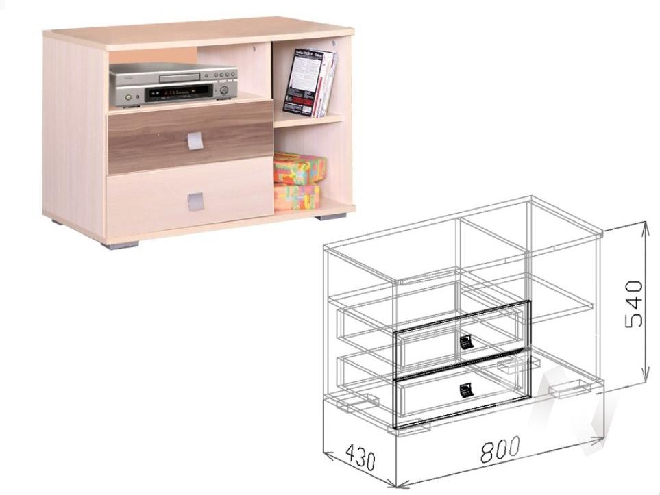Евро М12 Тумба (бодега бежевый - ясень шимо темный) недорого в Томске — интернет-магазин авторской мебели Экостиль
