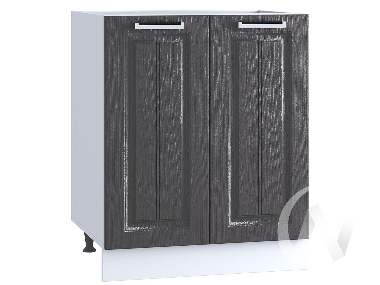 "Кухня ""Луксор"": Шкаф нижний 600, ШН 600 (Клен серый/корпус белый)"