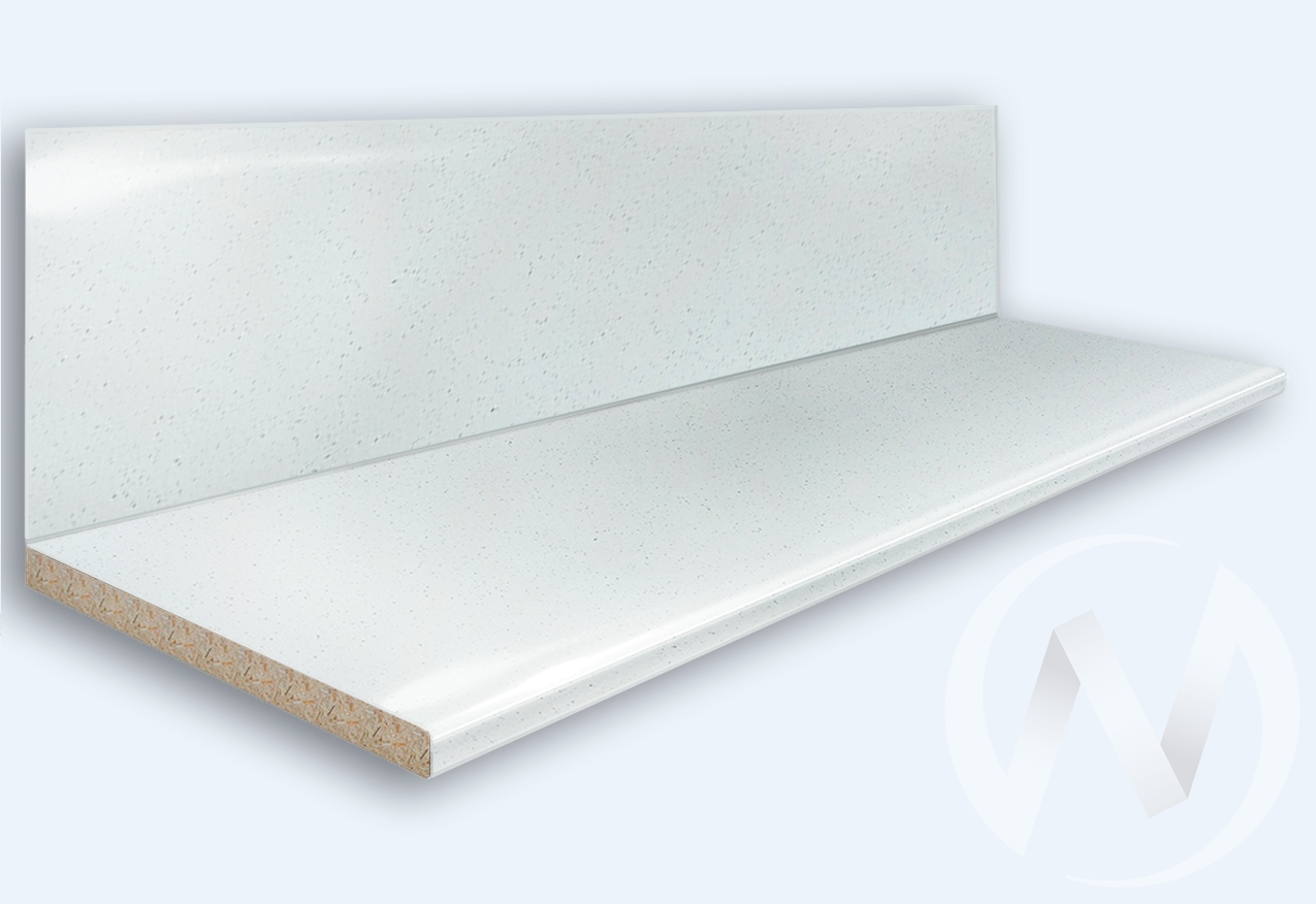 Столешница 3000*600/38мм (№ 55гл белая) в заводской упаковке