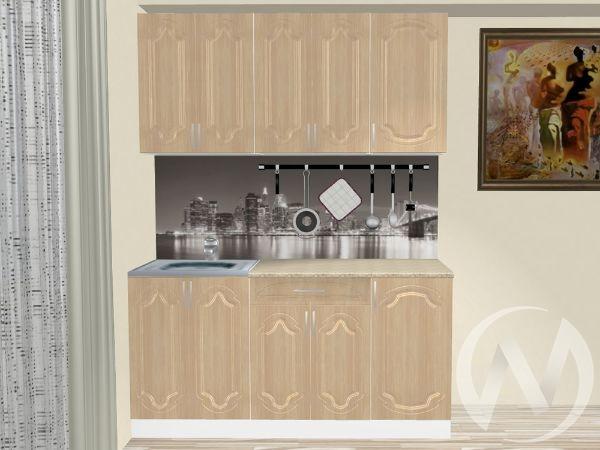 "Кухня ""Настя"" 1.6м (Береза/корпус белый) корпусно-фасадная"