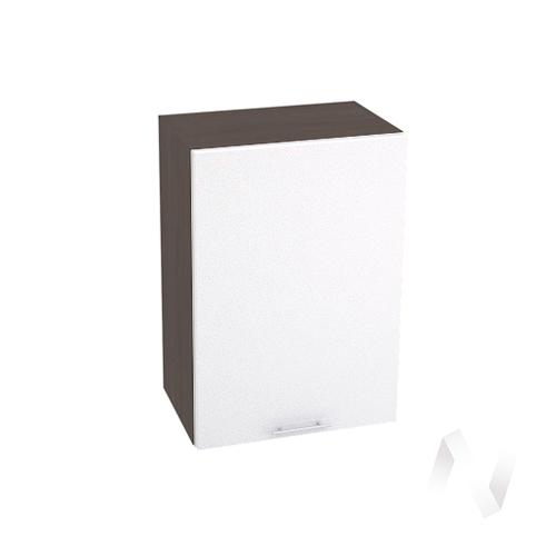 """Кухня """"Валерия-М"""": Шкаф верхний 500, ШВ 500 (белый глянец/корпус венге)"""