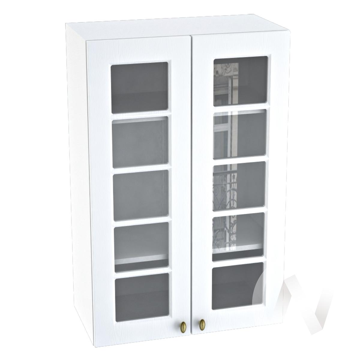 """Кухня """"Прованс"""": Шкаф верхний 609, ШВC 609 новый (белое дерево/корпус белый)"""