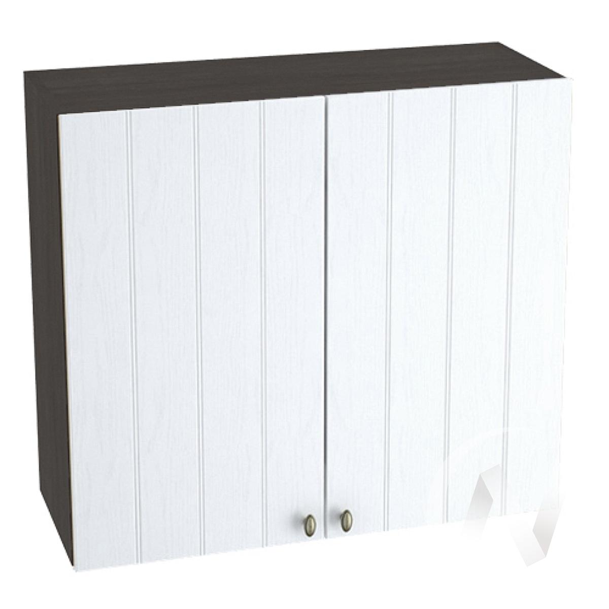 """Кухня """"Прованс"""": Шкаф верхний 800, ШВ 800 новый (белое дерево/корпус венге)"""