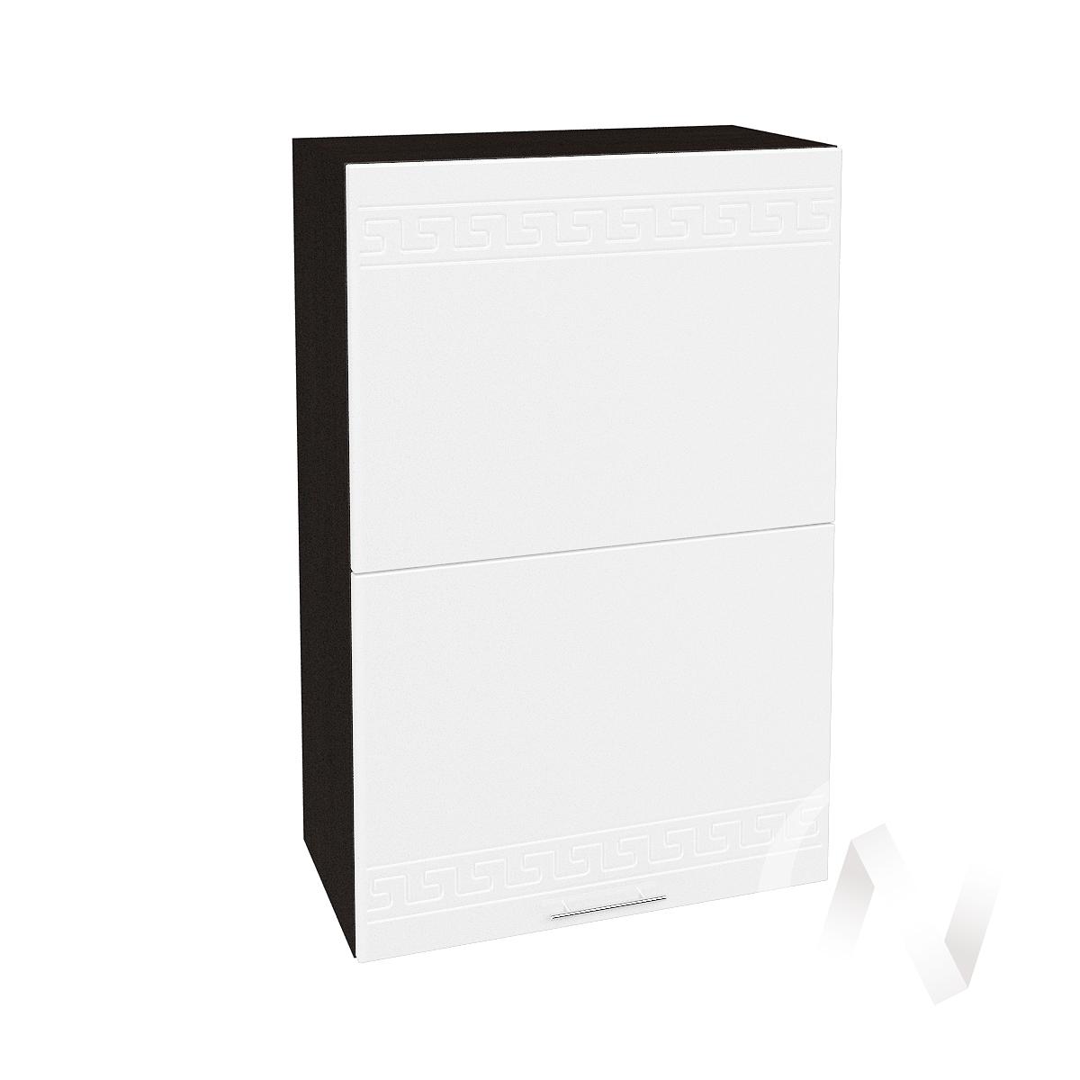 "Кухня ""Греция"": Шкаф верхний горизонтальный 602, ШВГ 602 (белый металлик/корпус венге)"