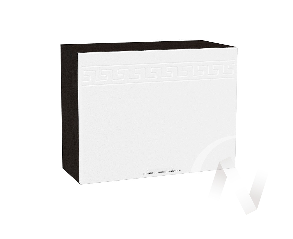 "Кухня ""Греция"": Шкаф верхний горизонтальный 609, ШВГ 609 (белый металлик/корпус венге)"