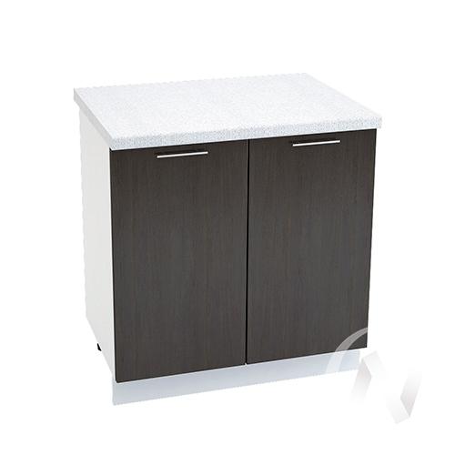 """Кухня """"Валерия-М"""": Шкаф нижний 800, ШН 800 новый (венге/корпус белый)"""