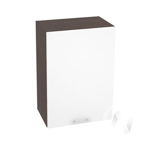 """(2)Кухня """"Валерия-М"""": Шкаф верхний 500, ШВ 500 (белый глянец/корпус венге)"""