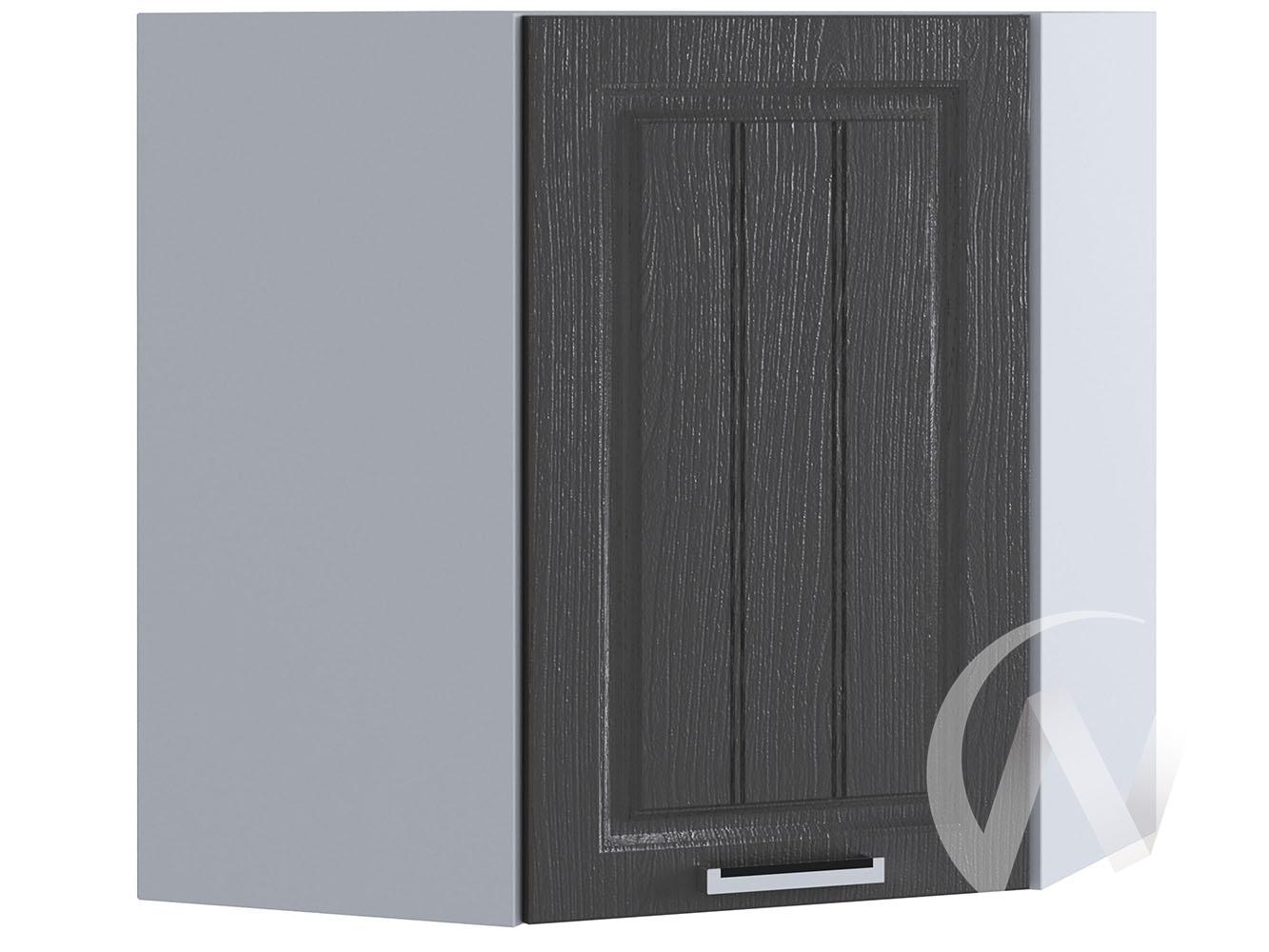 "Кухня ""Луксор"": Шкаф верхний угловой 590, ШВУ 590 (Клен серый/корпус белый)"
