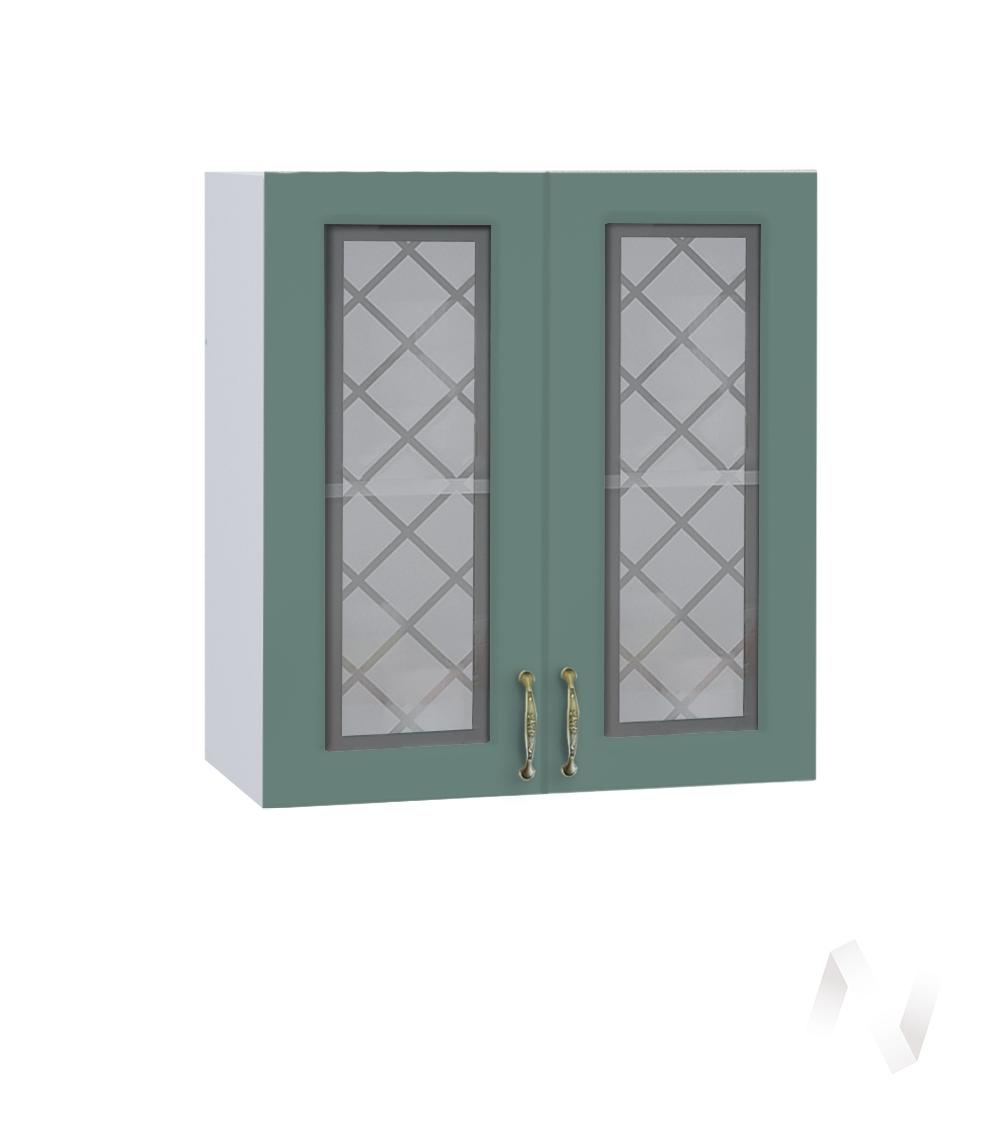 """Кухня """"Селена"""": Шкаф верхний со стеклом 600, ШВС 600 новый (Дуб бирюзовый/корпус белый)"""