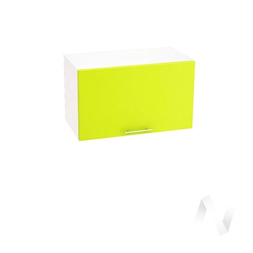 """Кухня """"Валерия-М"""": Шкаф верхний горизонтальный 600, ШВГ 600 (лайм глянец/корпус белый)"""