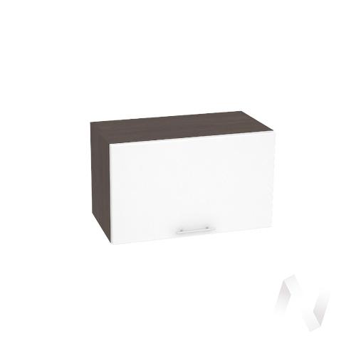 """Кухня """"Валерия-М"""": Шкаф верхний горизонтальный 600, ШВГ 600 (белый глянец/корпус венге)"""