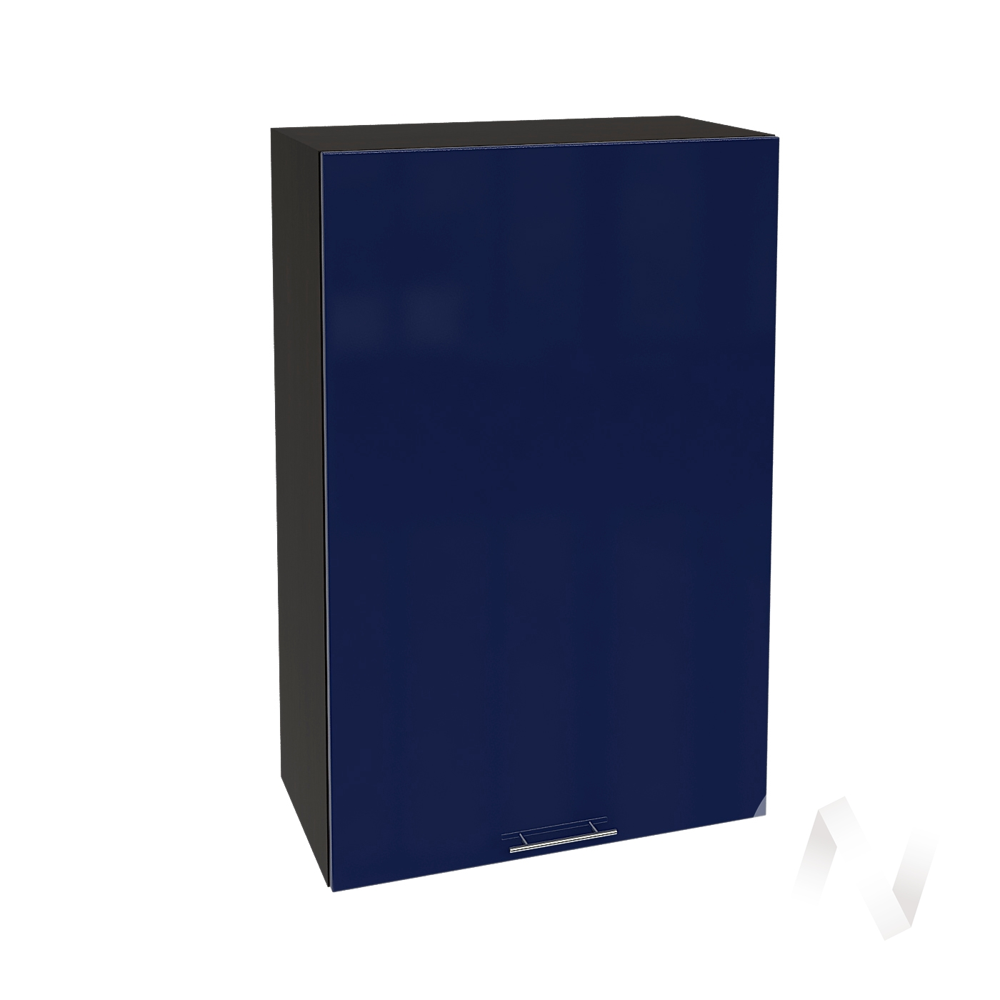 "Кухня ""Валерия-М"": Шкаф верхний 609, ШВ 609М (Синий глянец/корпус венге)"