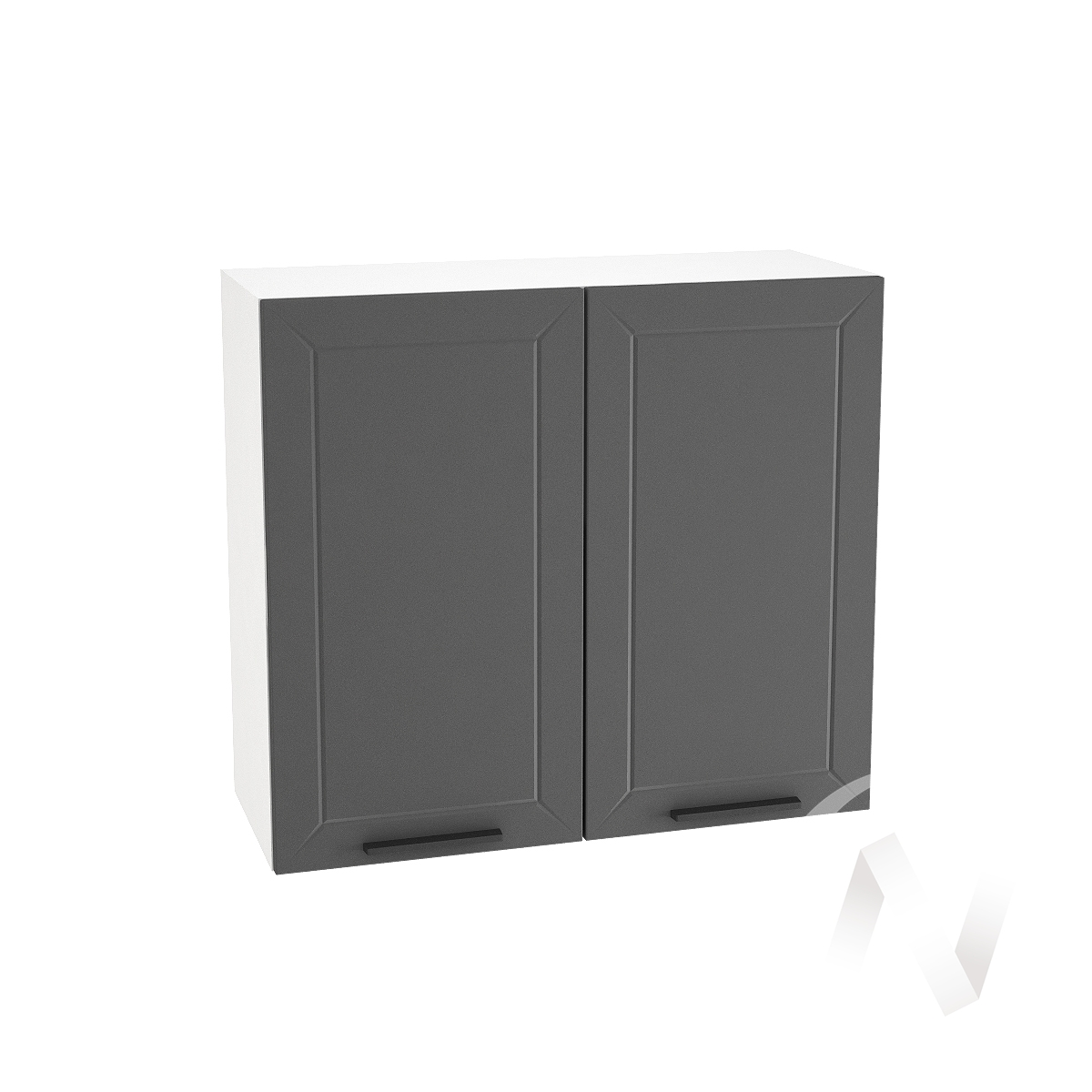 """Кухня """"Глетчер"""": Шкаф верхний 800, ШВ 800 новый (Маренго силк/корпус белый)"""