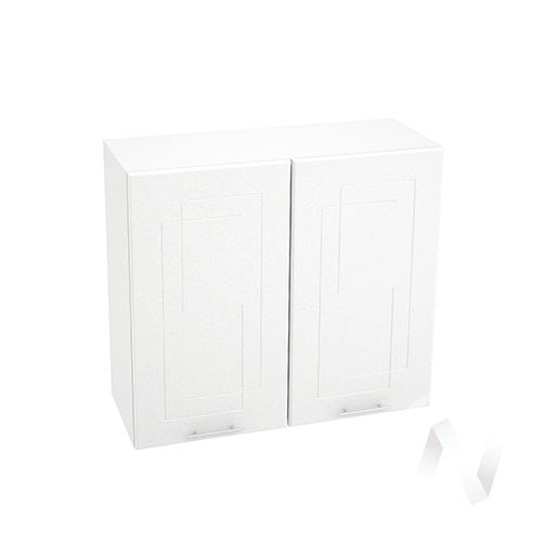 """Кухня """"Вега"""": Шкаф верхний 800, ШВ 800 новый (белый металлик/корпус белый)"""
