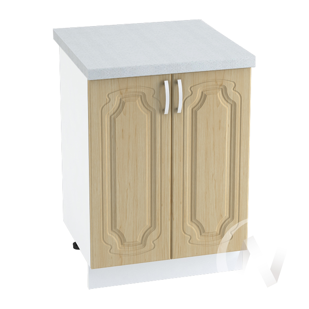"Кухня ""Настя"": Шкаф нижний 600, ШН 600 новый (Береза/корпус белый)"