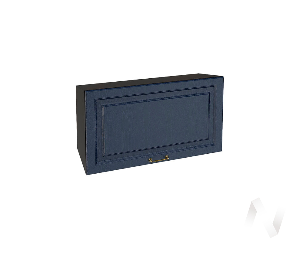 """Кухня """"Ницца"""": Шкаф верхний горизонтальный 809, ШВГ 809 (Дуб чернильный/корпус венге)"""