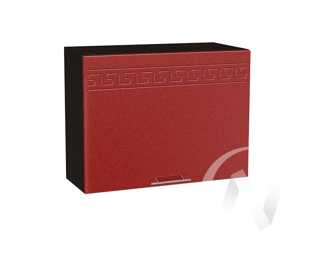 """Кухня """"Греция"""": Шкаф верхний горизонтальный 609, ШВГ 609 (гранатовый металлик/корпус венге)"""