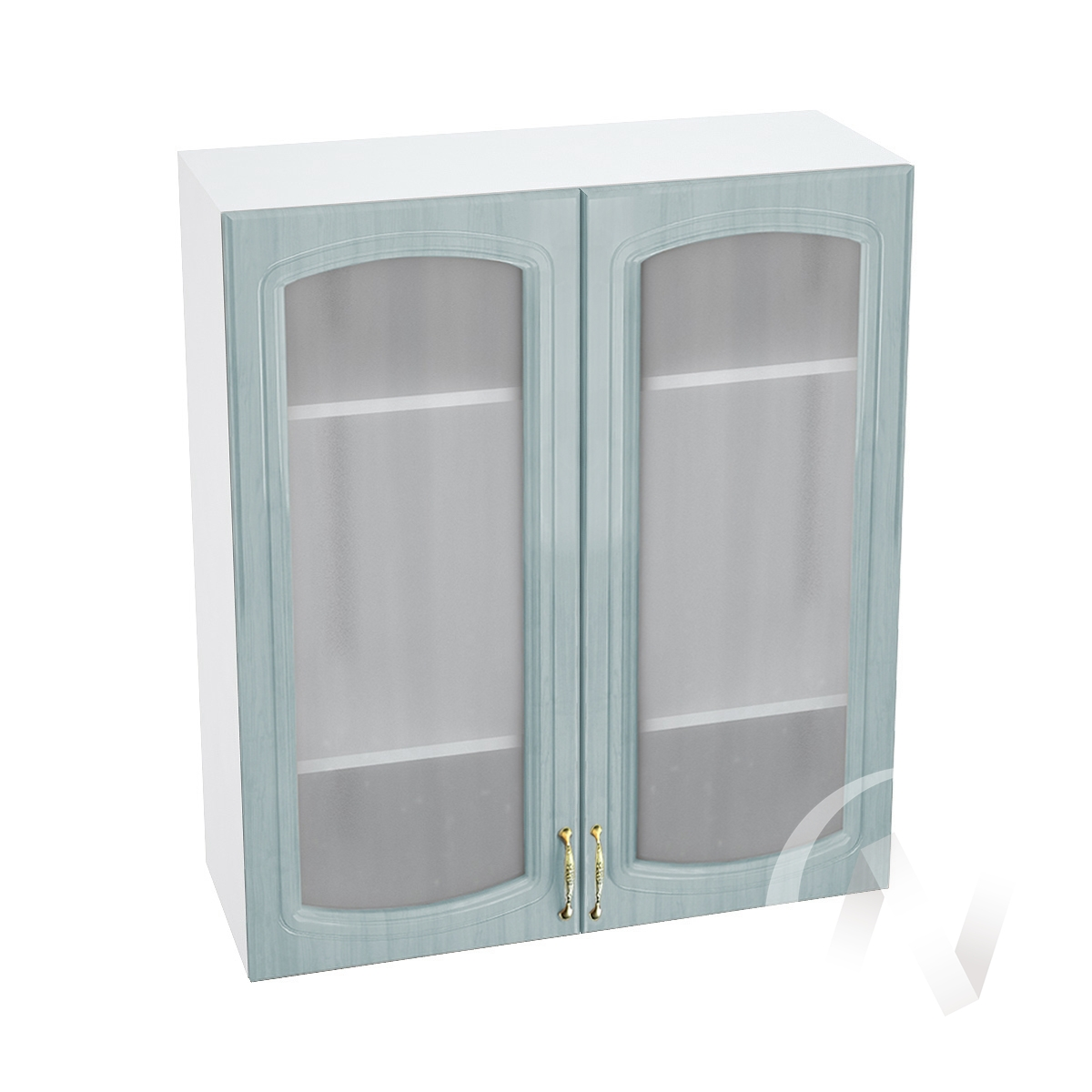 "Кухня ""Сити"": Шкаф верхний со стеклом 809, ШВС 809 (корпус белый)"