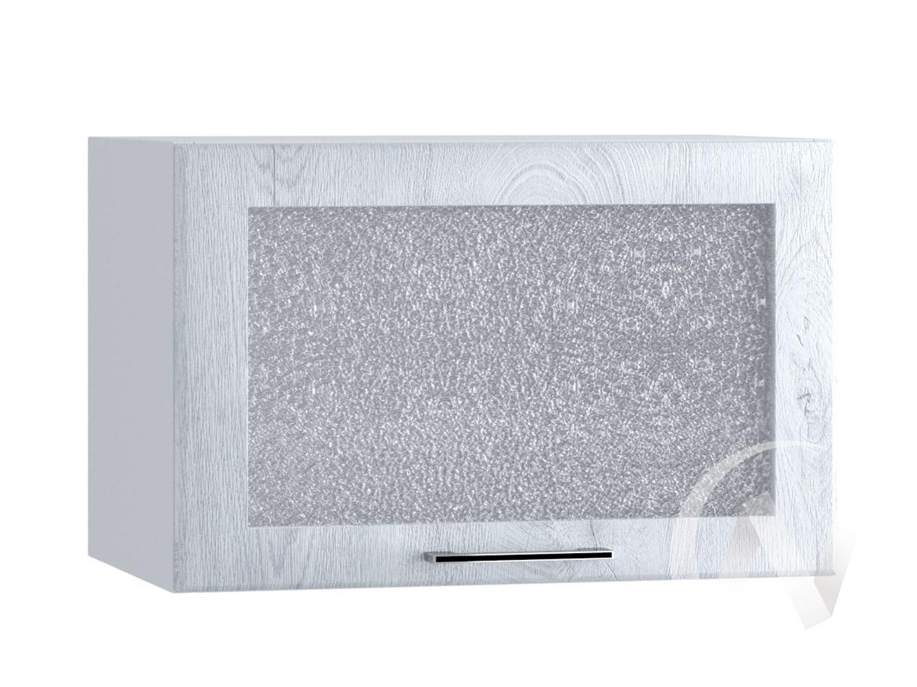 """Кухня """"Палермо"""": Шкаф верхний горизонтальный со стеклом 500, ШВГС 500 (Дуб остин серый/корпус белый)"""