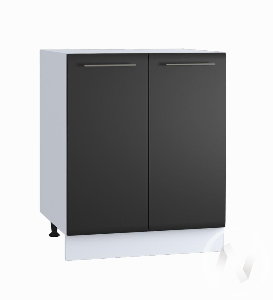 """Кухня """"Люкс"""": Шкаф нижний 600, ШН 600 новый (Шелк венге/корпус белый)"""