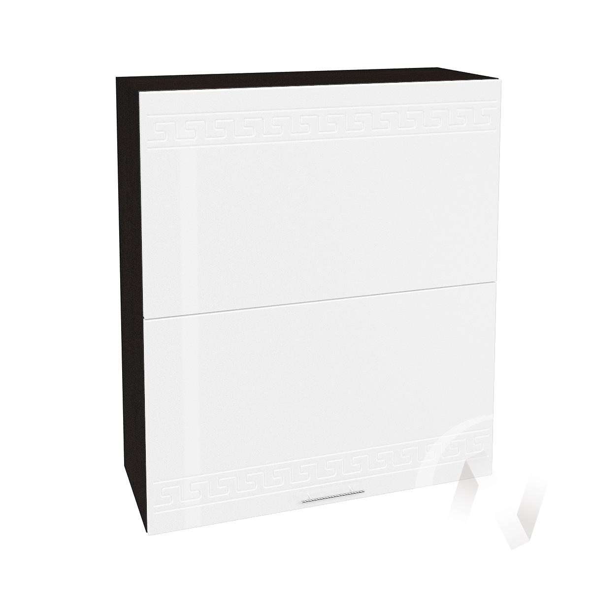 "Кухня ""Греция"": Шкаф верхний горизонтальный 802, ШВГ 802 (белый металлик/корпус венге)"