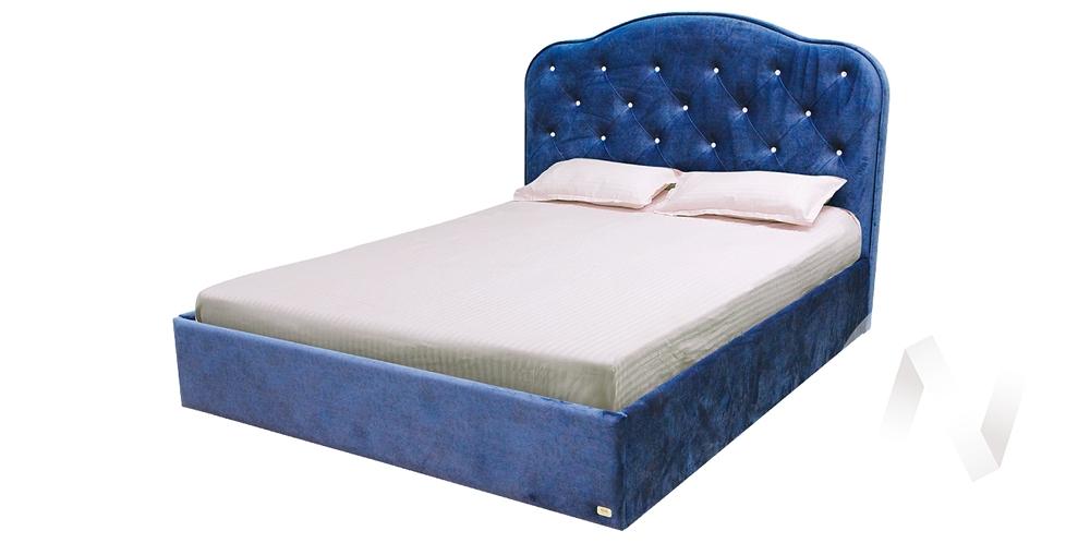 Кровать Николь 1,6х2,0 велюр гойя индиго 5 категория с подъемным механизмом+ортопед недорого в Томске — интернет-магазин авторской мебели Экостиль