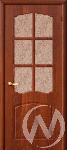 Дверь ПВХ Тип Азалия, 60, ост, итальянский орех  в Новосибирске - интернет магазин Мебельный Проспект