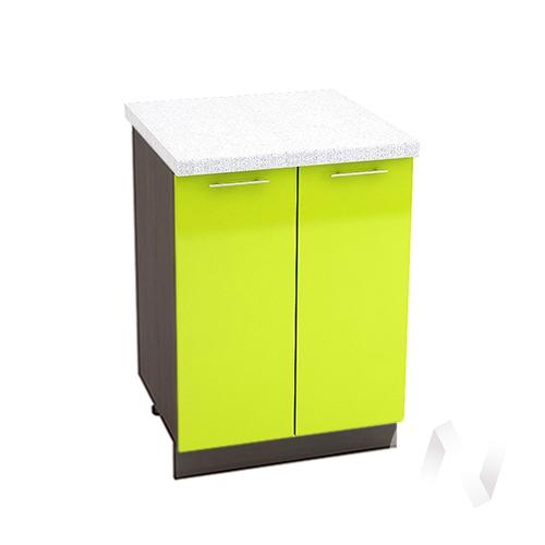 "Кухня ""Валерия-М"": Шкаф нижний 600, ШН 600 новый (лайм глянец/корпус венге)"