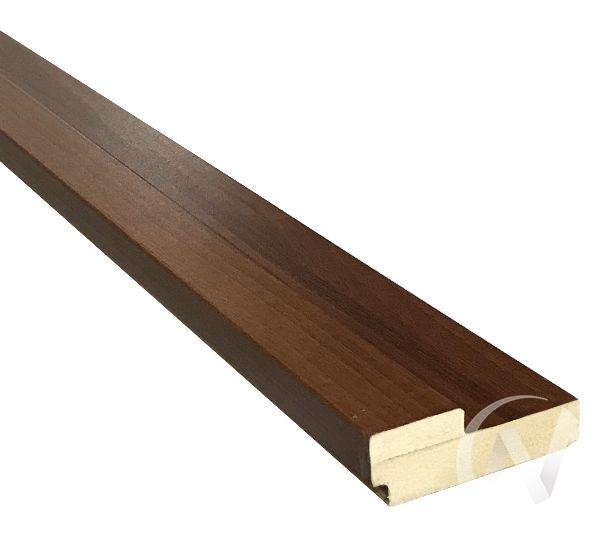 Коробка ПВХ квадратная, 70*28*2070 четв.42мм, под УП, итальянский орех, с пазом