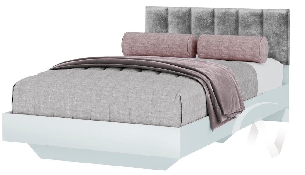 Кровать одинарная КР-09 МС Мемори (белый/серый)