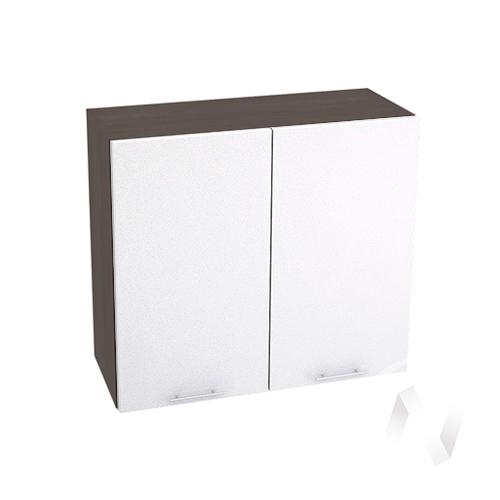 """Кухня """"Валерия-М"""": Шкаф верхний 800, ШВ 800 новый (белый металлик/корпус венге)"""