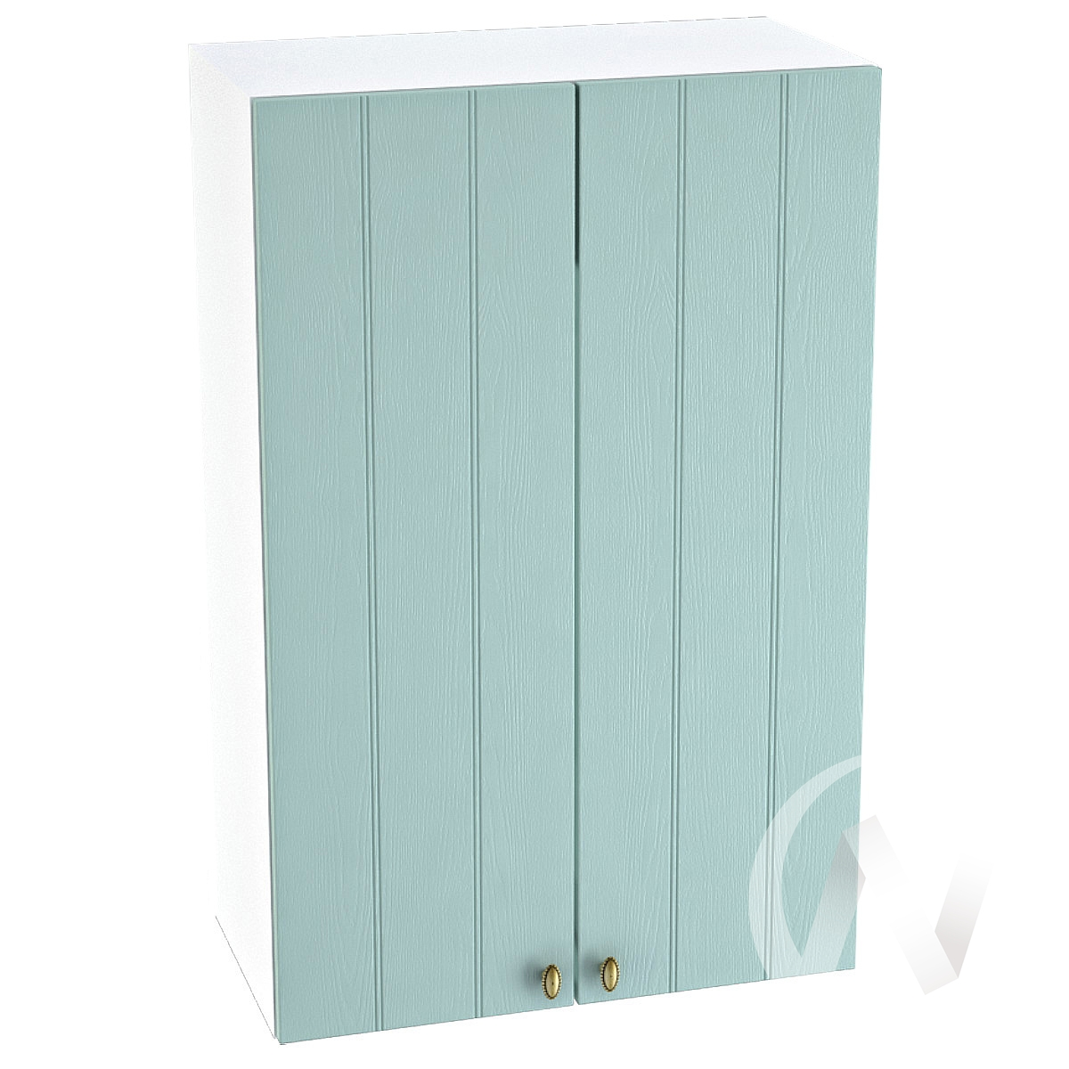 "Кухня ""Прованс"": Шкаф верхний 609, ШВ 609 (голубой/корпус белый)"