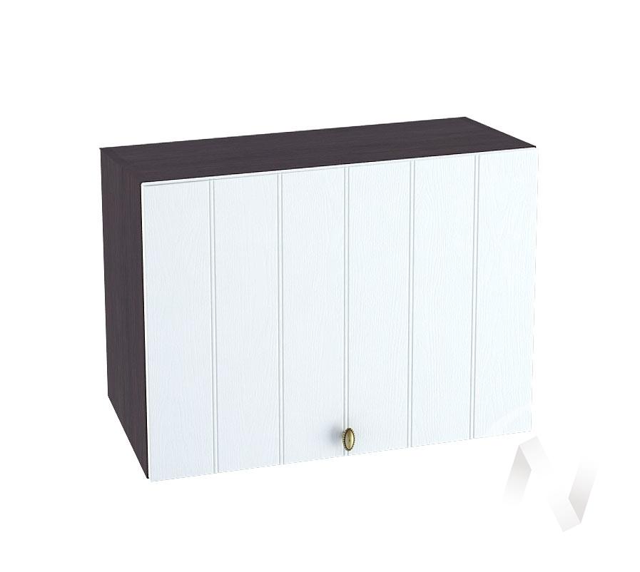 """Кухня """"Прованс"""": Шкаф верхний горизонтальный 609, ШВГ 609 (белое дерево/корпус венге)"""