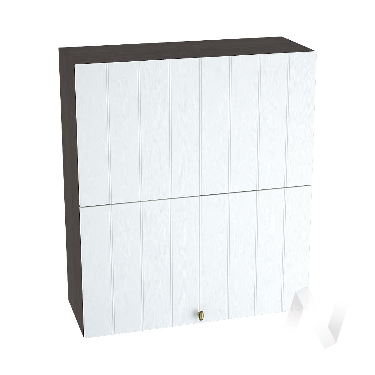 """Кухня """"Прованс"""": Шкаф верхний горизонтальный 802, ШВГ 802 (белое дерево/корпус венге)"""