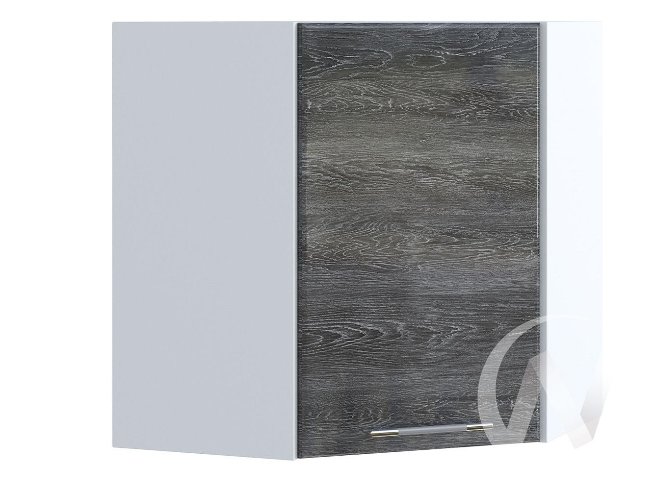"Кухня ""Танго"": Шкаф верхний угловой 590, ШВУ 590 (Дуб шале серебро/корпус белый)"