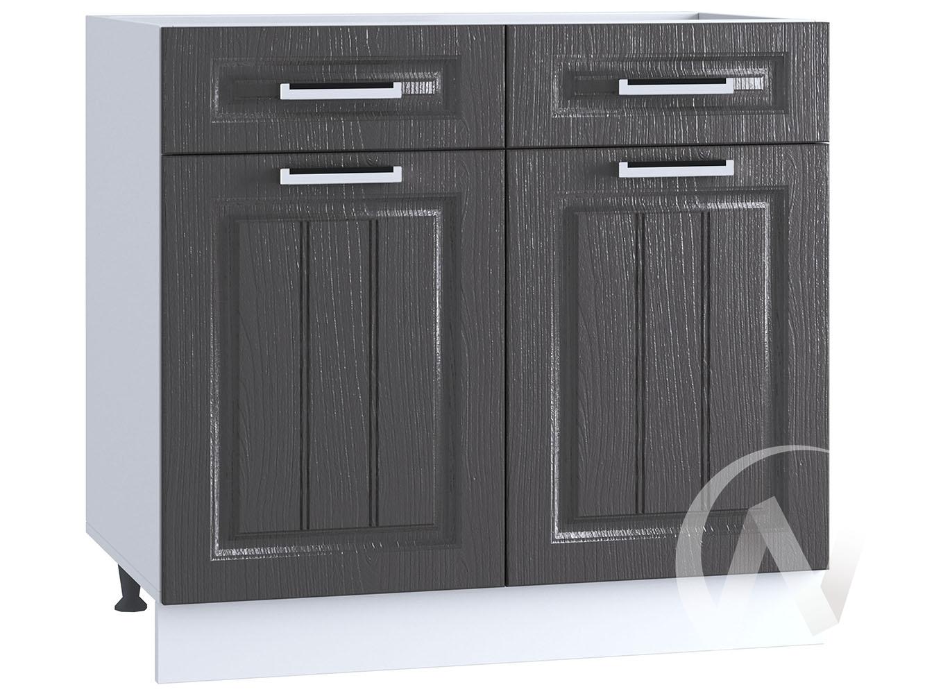 "Кухня ""Луксор"": Шкаф нижний с ящиками 800, ШН1Я 800 (Клен серый/корпус белый)"