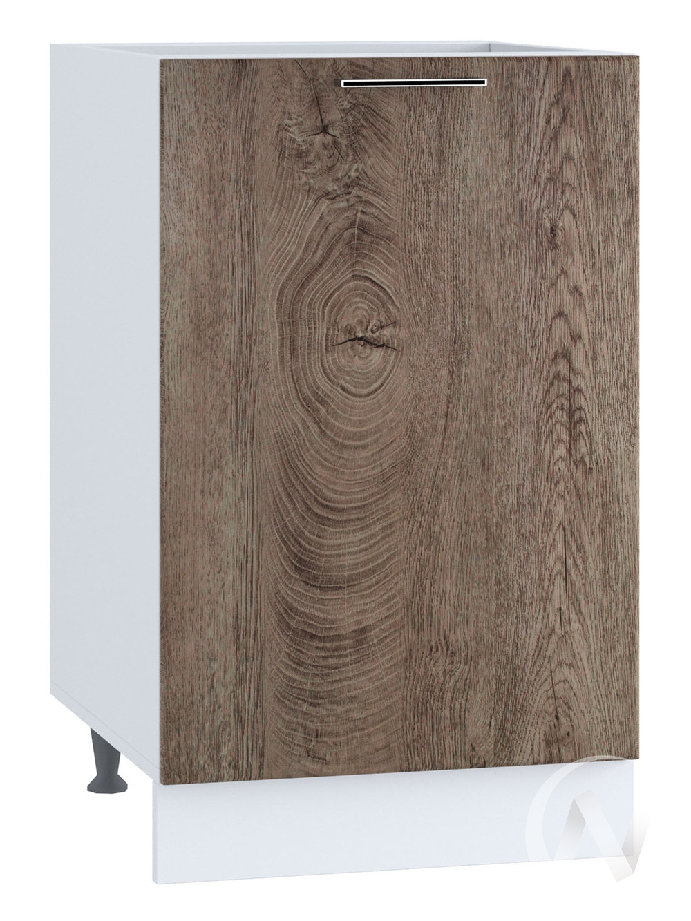 """Кухня """"Палермо"""": Шкаф нижний 450, ШН 450 (Дуб остин беж/корпус белый)"""