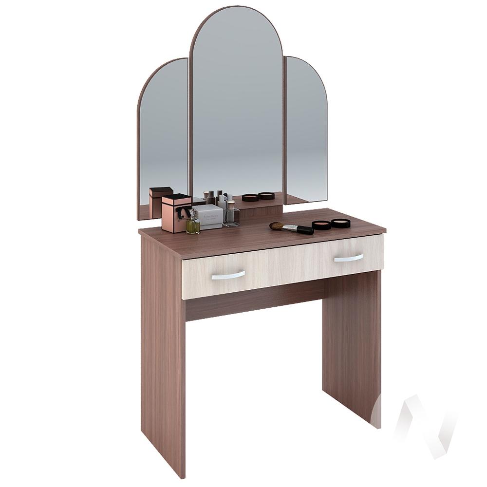 Бася Стол макияжный ЛДСП(ясень шимо темный/ясень шимо светлый) СТ 551
