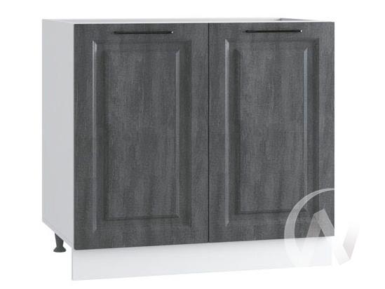 """Кухня """"Либерти"""": Шкаф нижний 800, ШН 800 (Холст грей/корпус белый)"""