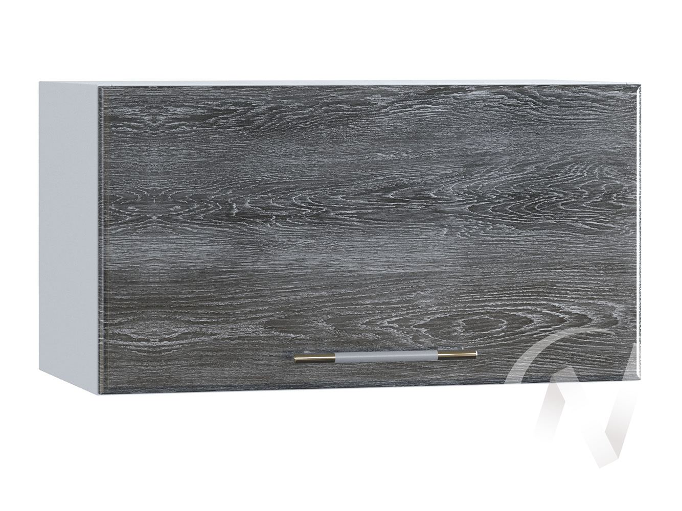 "Кухня ""Танго"": Шкаф верхний горизонтальный 600, ШВГ 600 (Дуб шале серебро/корпус белый)"