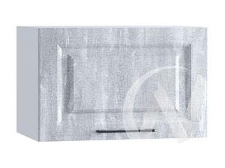 """Кухня """"Либерти"""": Шкаф верхний горизонтальный 500, ШВГ 500 (Холст натуральный/корпус белый)"""