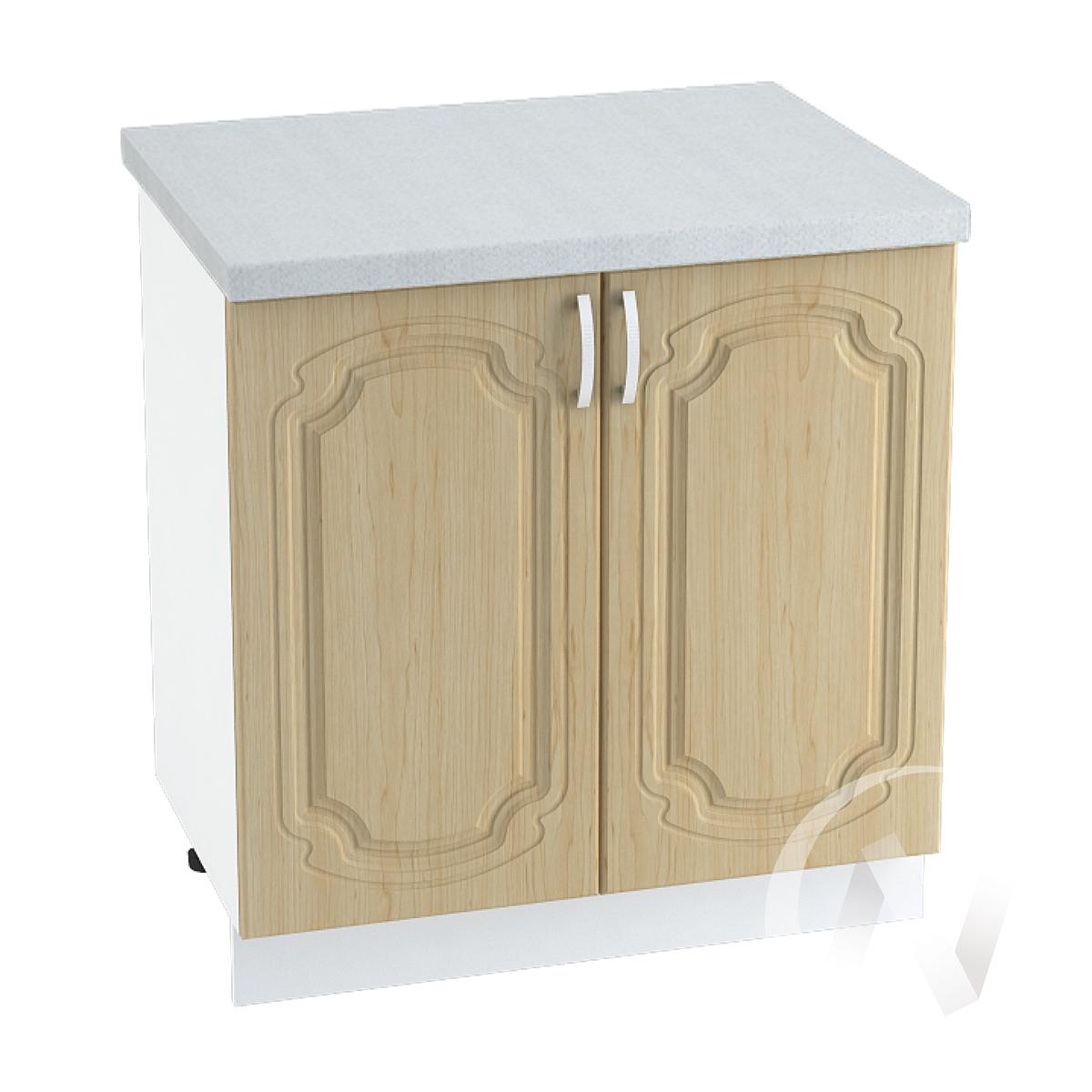 "Кухня ""Настя"": Шкаф нижний 800, ШН 800 новый (Береза/корпус белый)"