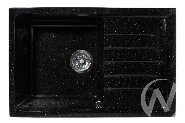 Мойка из искусственного камня Light 4 без фрезы и сифона (чёрный)