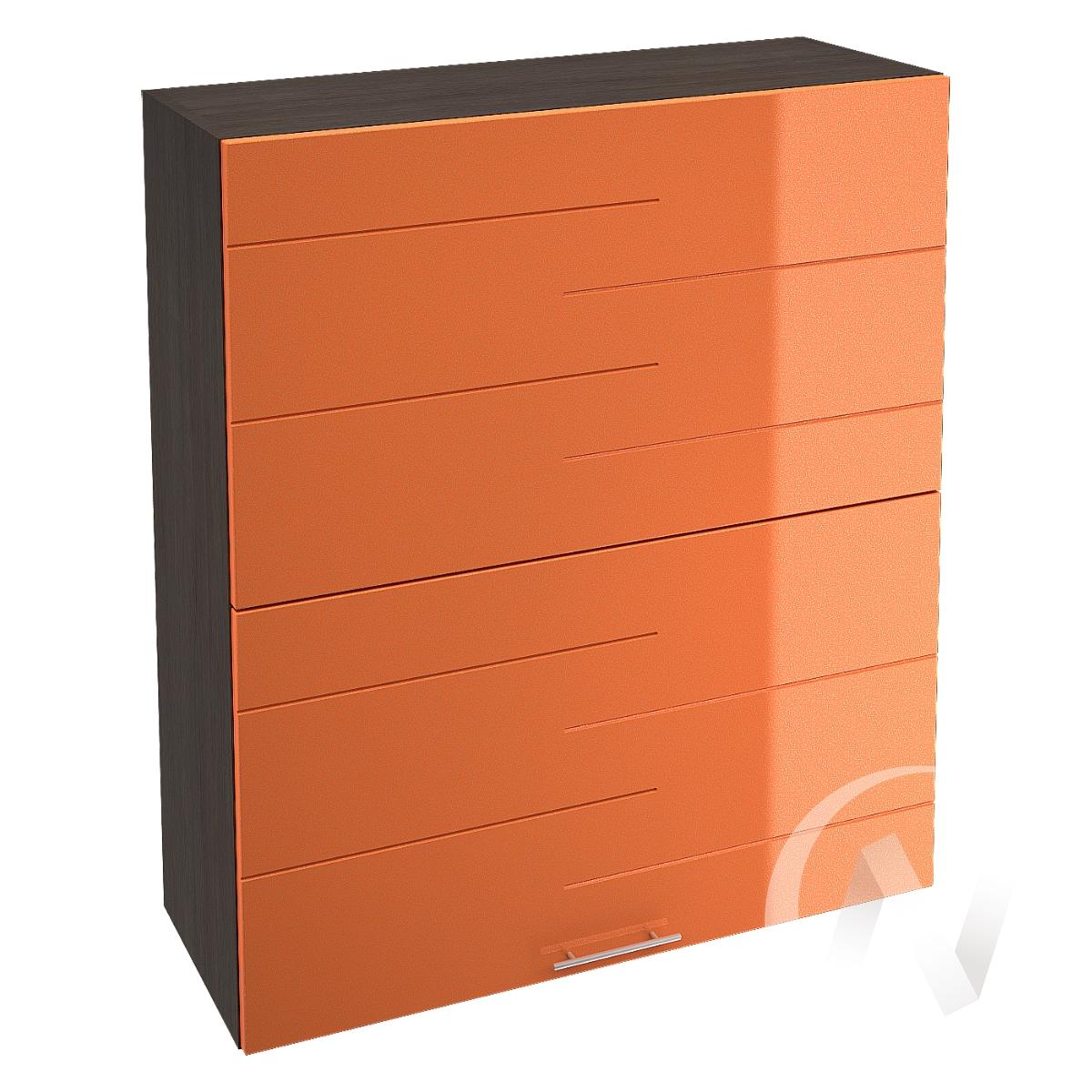 """Кухня """"Техно"""": Шкаф верхний горизонтальный 802, ШВГ 802 (корпус венге)"""