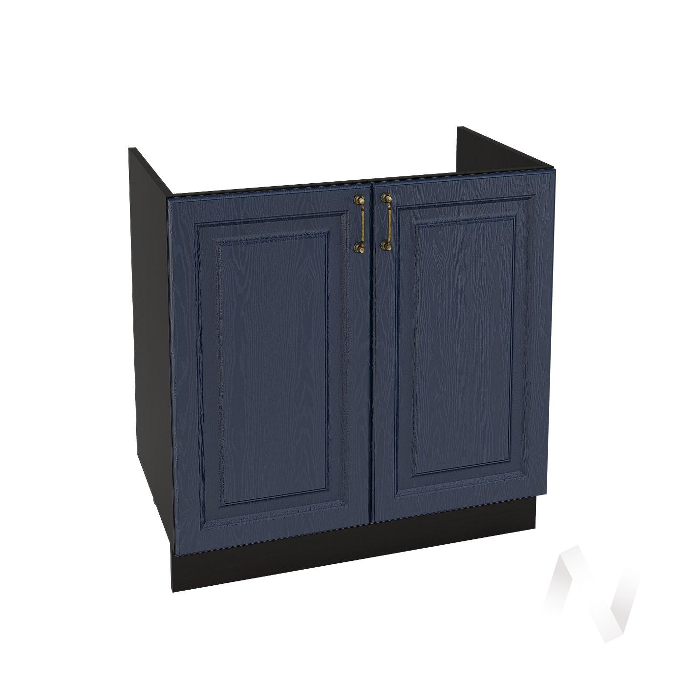 """Кухня """"Ницца"""": Шкаф нижний под мойку 800, ШНМ 800 новый (Дуб чернильный/корпус венге)"""