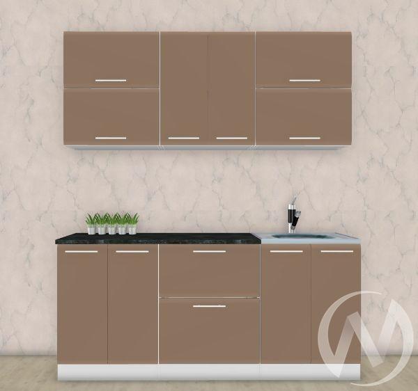 Кухня Люкс шоколад матовый 1,8 №3